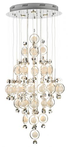Cloud 21-light Polished Chrome Baubles Pendant Ceiling Light CLO2550 (827673)